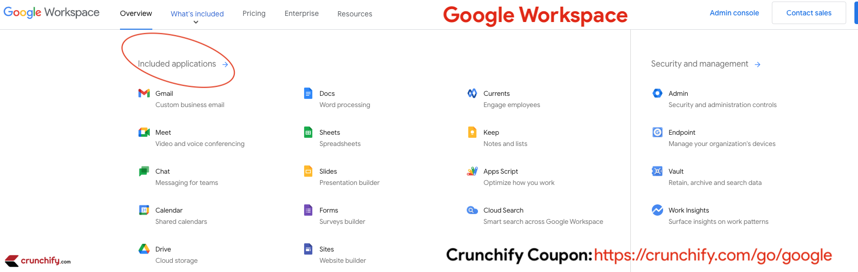 Google Workspace - What's Included