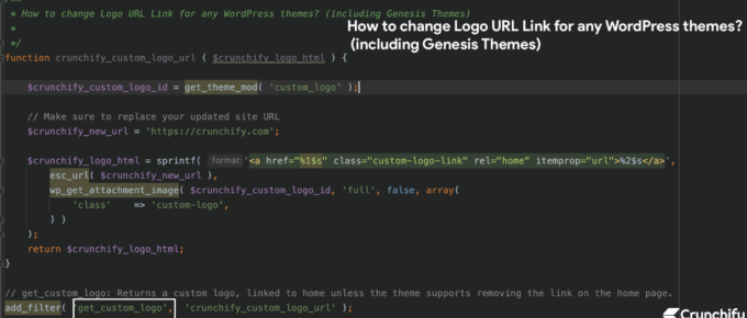 How to change Logo URL Link for any WordPress themes? including Genesis Themes