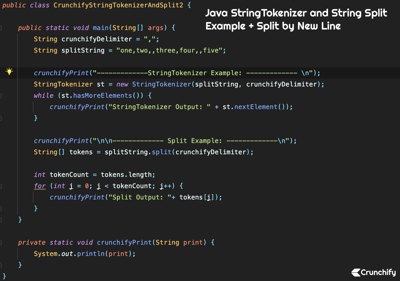 Java StringTokenizer and String Split Example + Split by New Line
