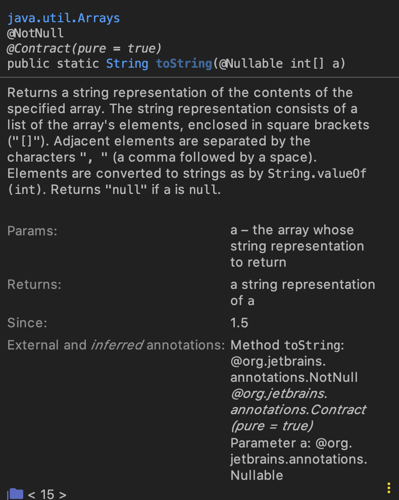 Java toString Example