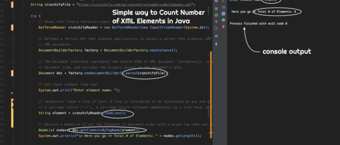 Simple way to Count Number of XML Elements in Java