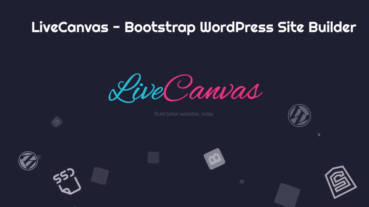LiveCanvas - Bootstrap WordPress Site Builder