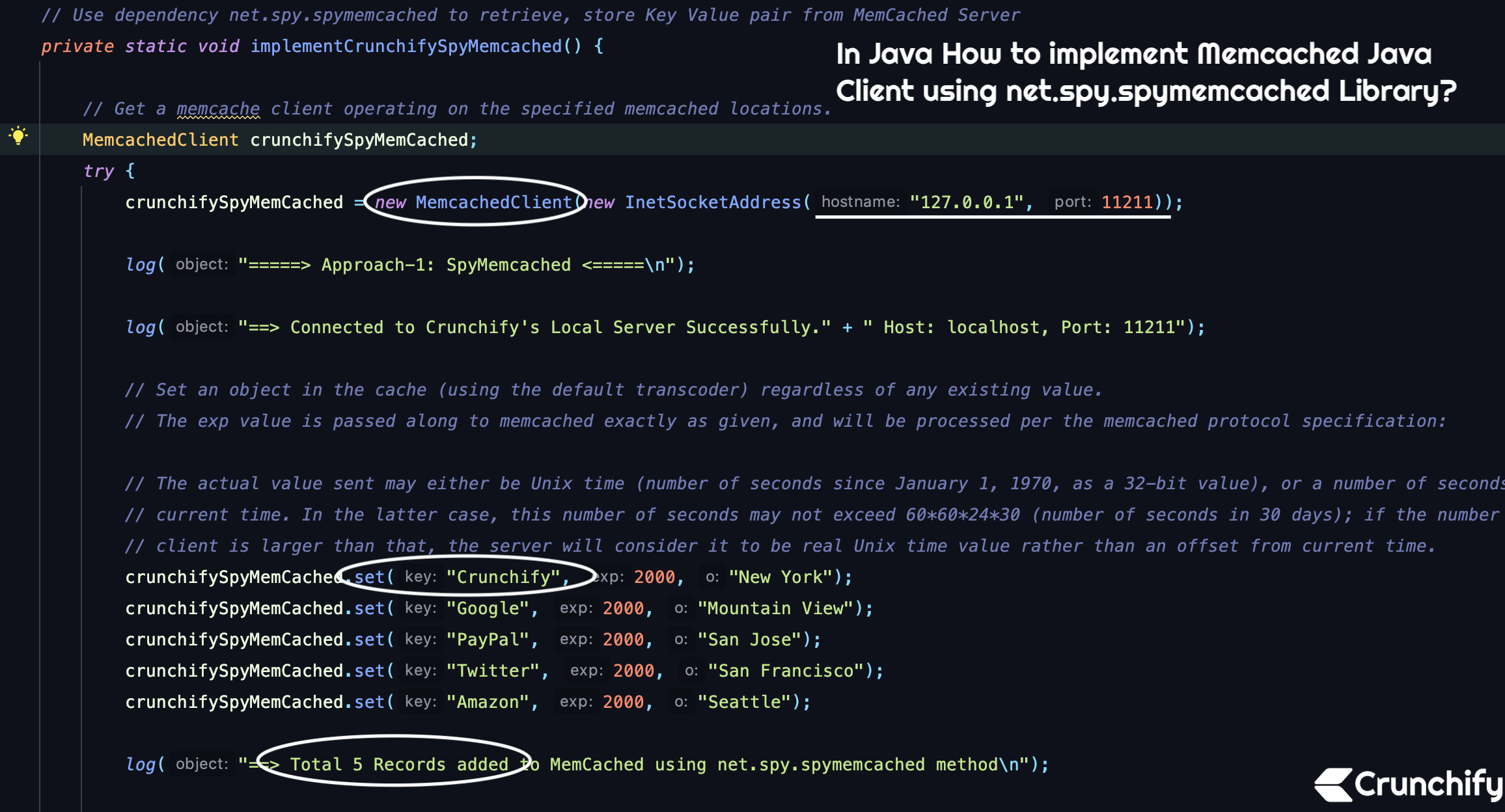 Memcached Java Client Tutorial using net.spy.spymemcached Library
