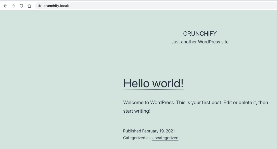Crunchify and DevKinsta - Checkout your local site