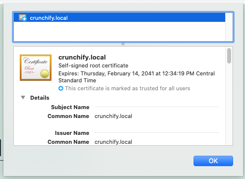 Crunchify and DevKinsta - Install SelfSign Certificate with one single click