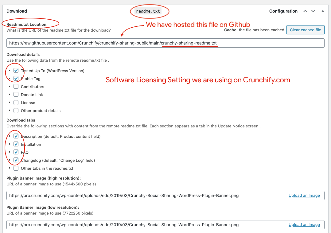 Crunchify's Software Licensing Readme.txt options