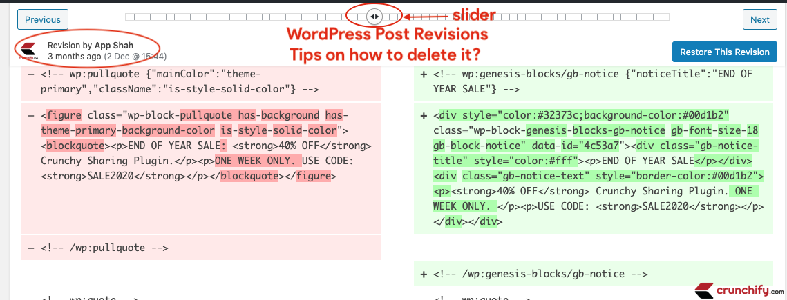 WordPress Post Revisions - Crunchify Tips on how to delete it?