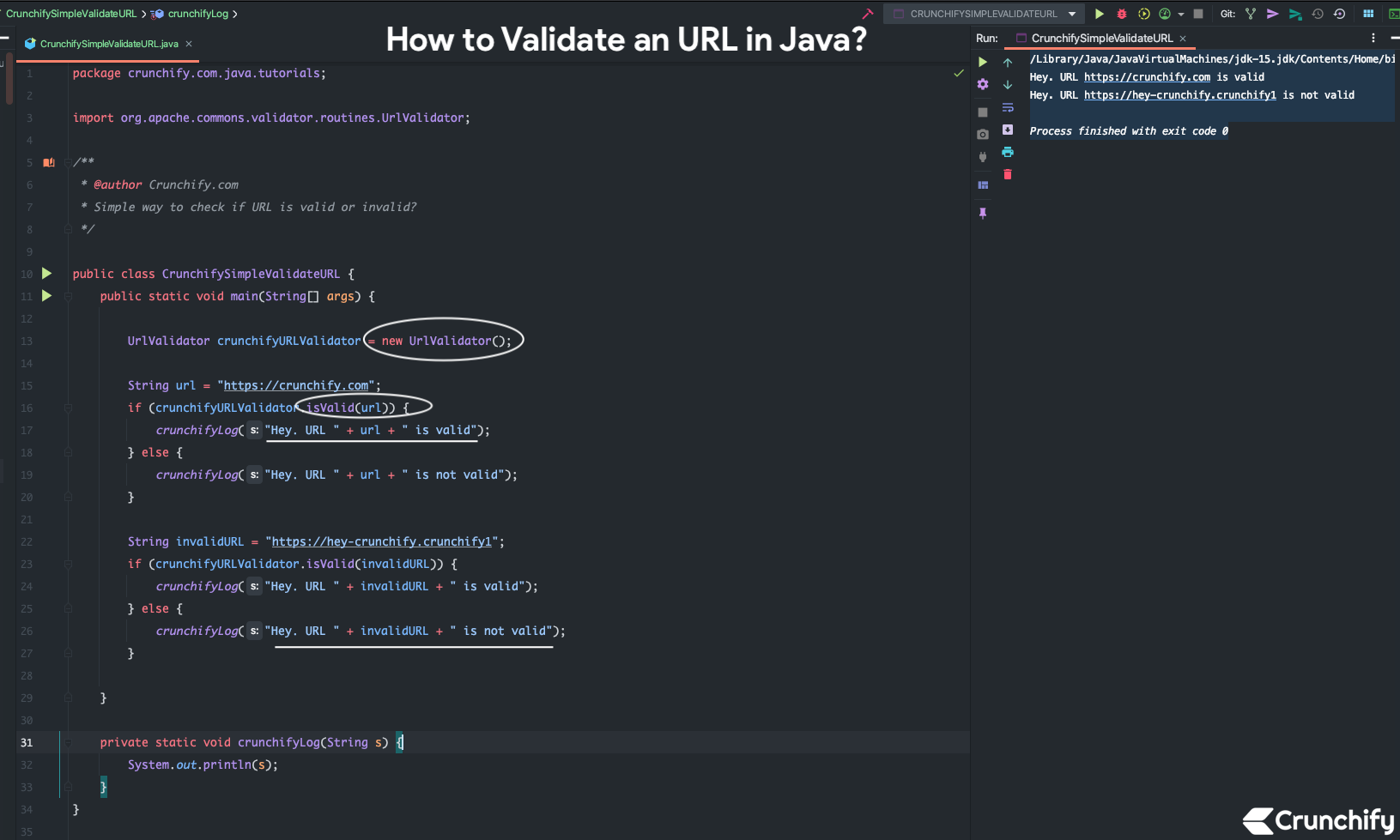 How to Validate an URL in Java