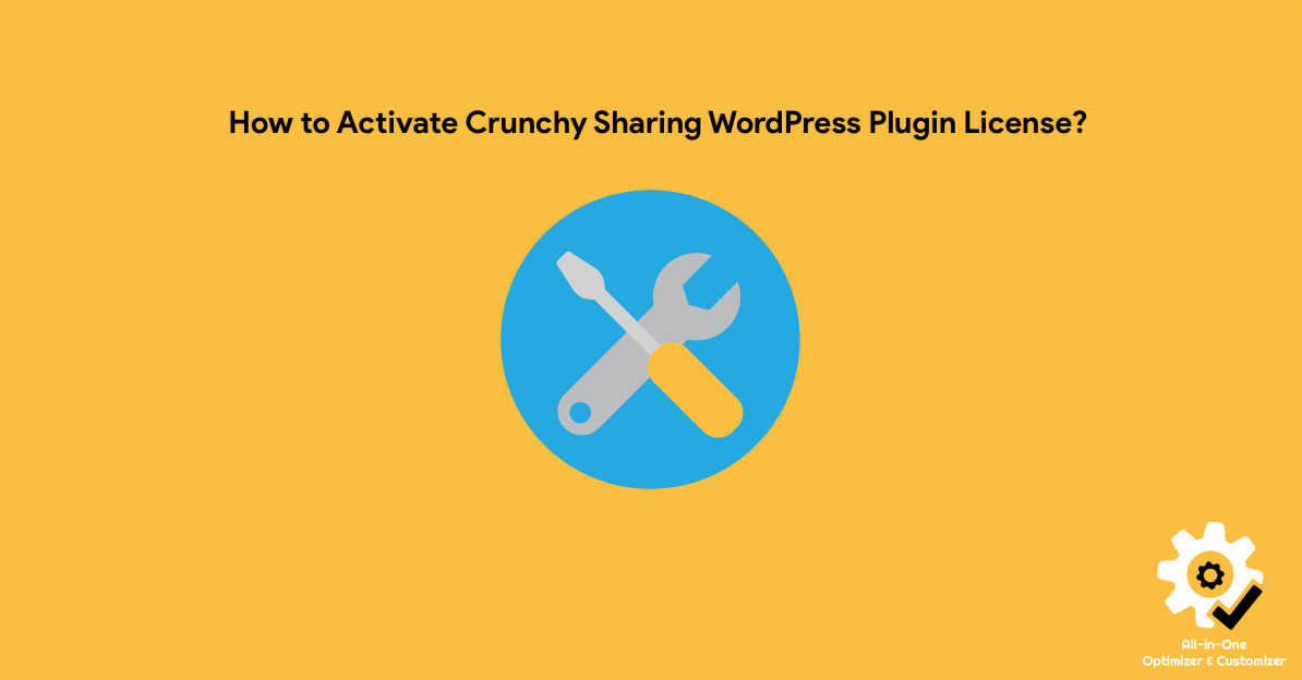 How to Activate Crunchy Sharing WordPress Plugin License?