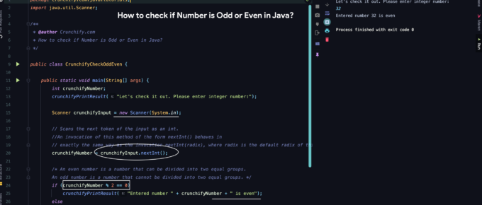 How to check if Number is Odd or Even in Java?