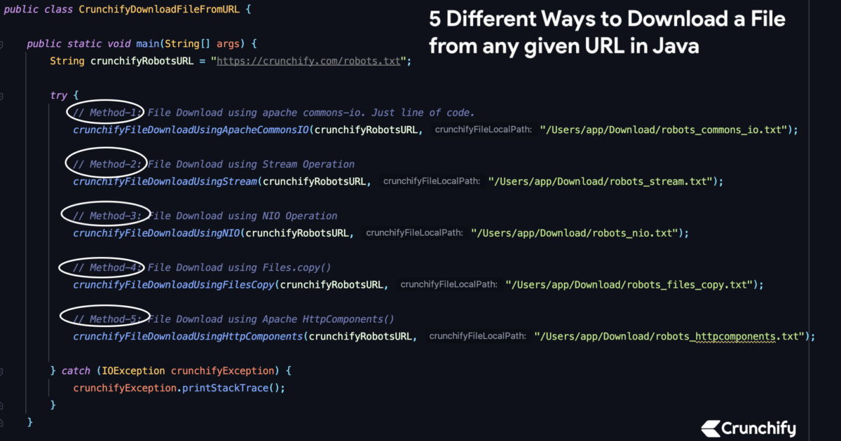 5 Different Ways to Download a File from any given URL in Java