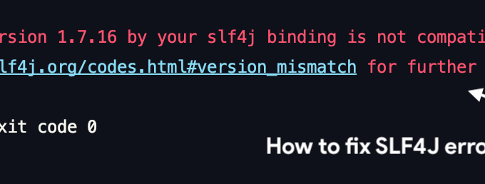 How to fix SLF4J - The requested version 1.7.16 by your slf4j binding is not compatible with [1.6]