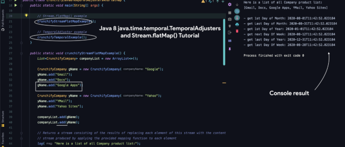 Java 8 java.time.temporal.TemporalAdjusters and Stream.flatMap() Tutorial