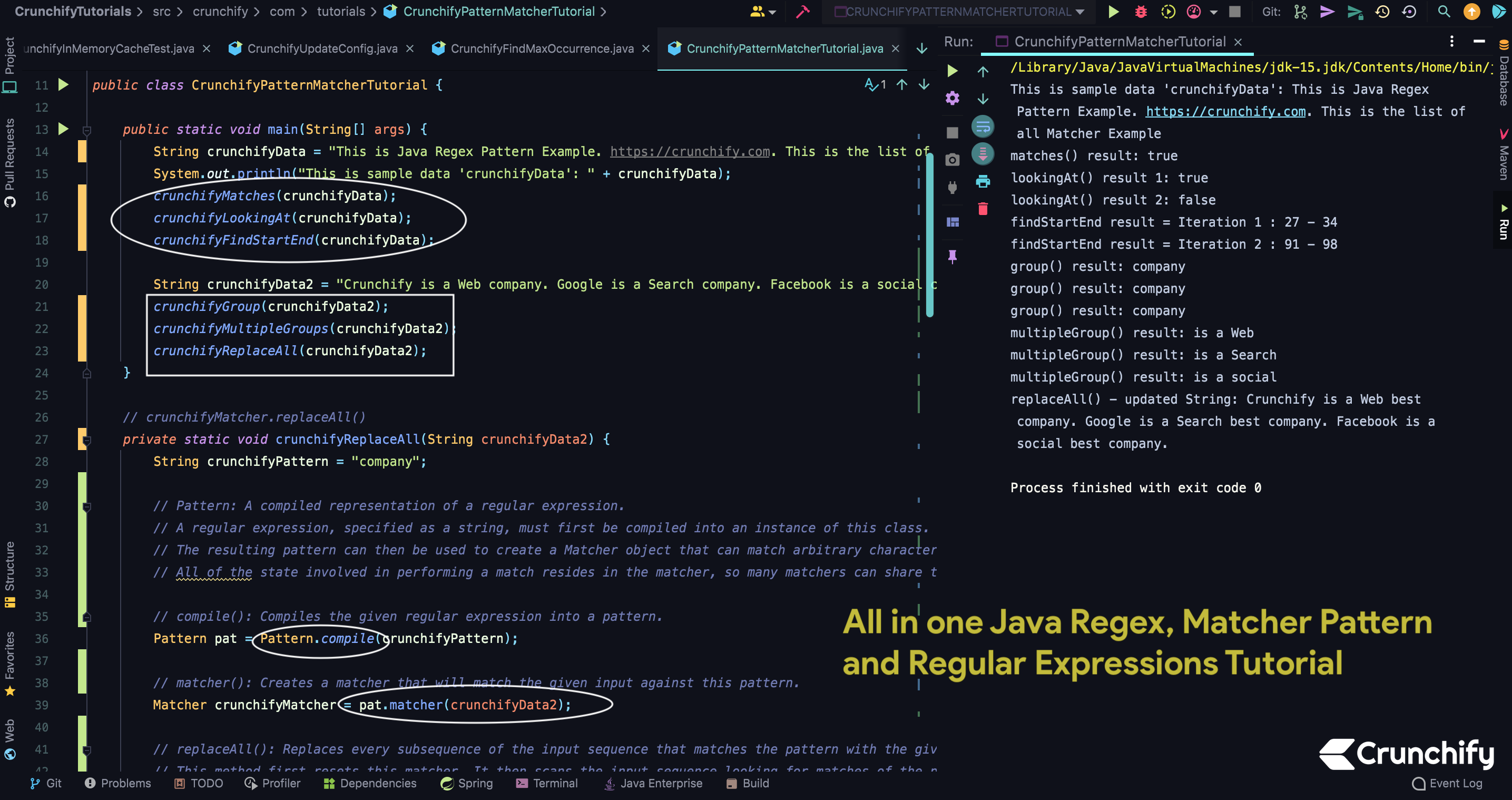 All in one Java Regex, Matcher Pattern and Regular Expressions Tutorial