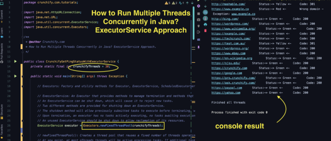 How to Run Multiple Threads Concurrently in Java? ExecutorService Approach